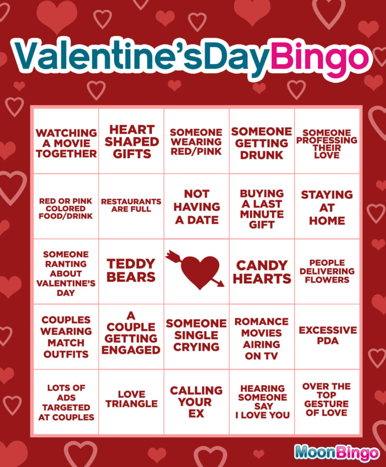 Valentine's Day Bingo: The Biggest Cliches on the Most Romantic Days of the Year